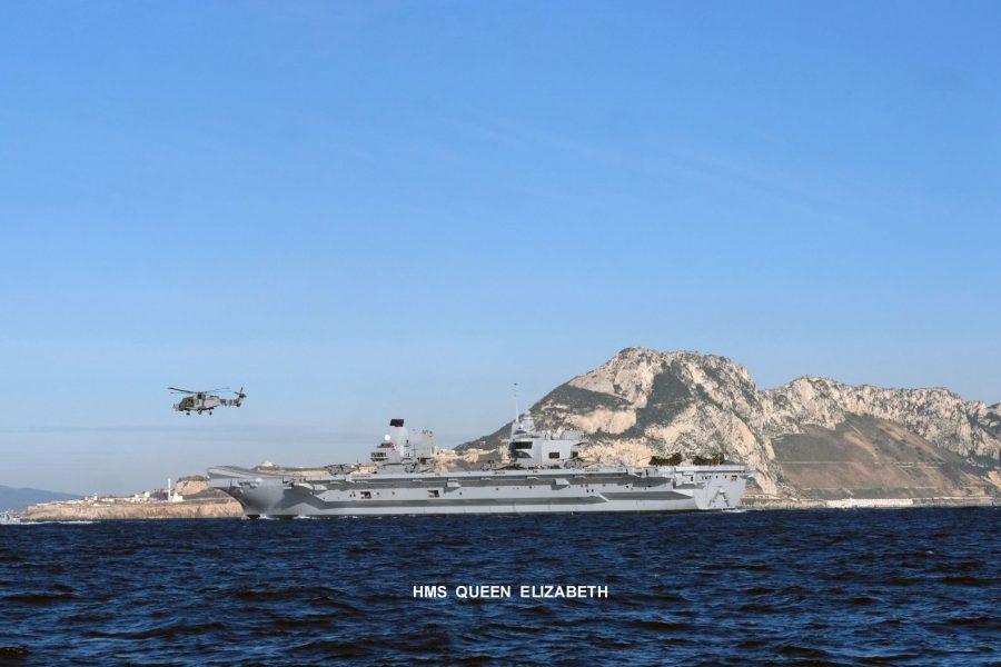 HMS Queen Elizabeth arrival 2018 Bugi 1