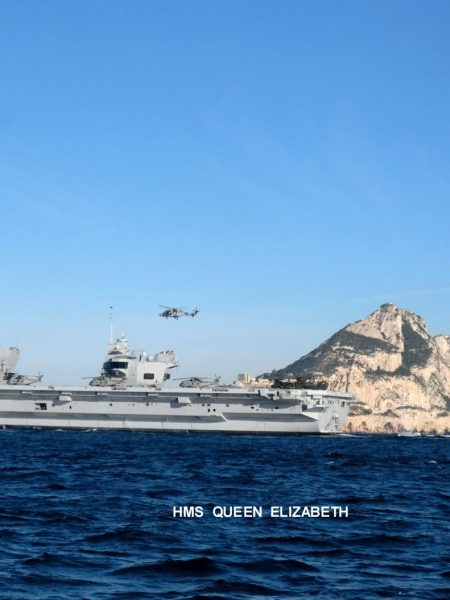 HMS Queen Elizabeth arrival 2018 Bugi 2